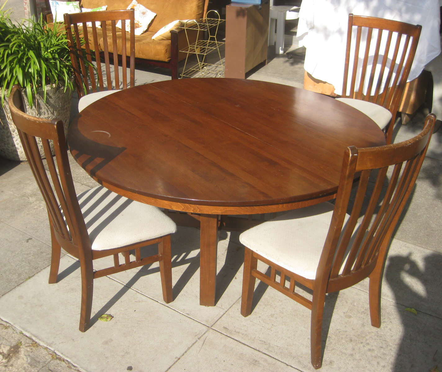 Uhuru furniture collectibles sold round dining table for Round dining table for 4