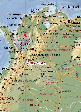 el mapa de colombia imagen