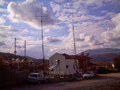 My House View With Antennas