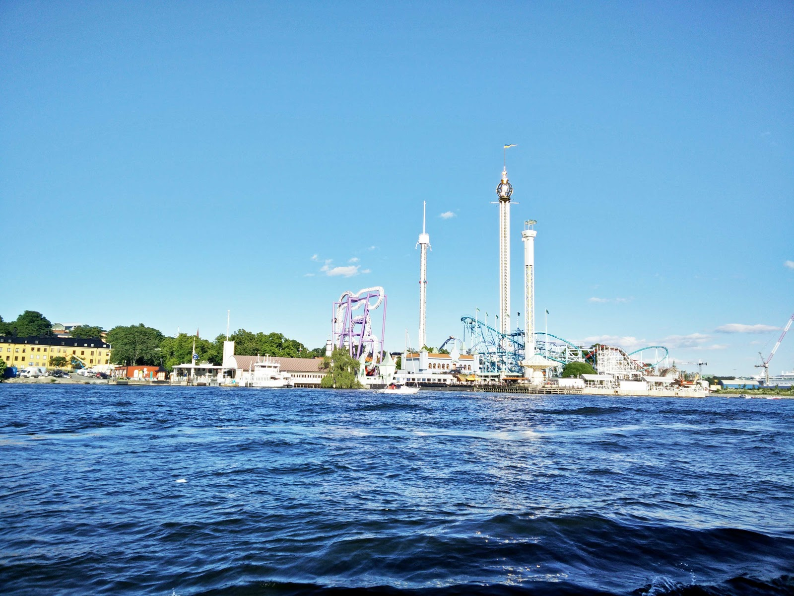 View of Djurgården from a boat