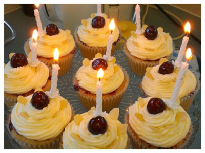 Miss Chaela Boo: Hello September! - cherry bakewell cupcakes
