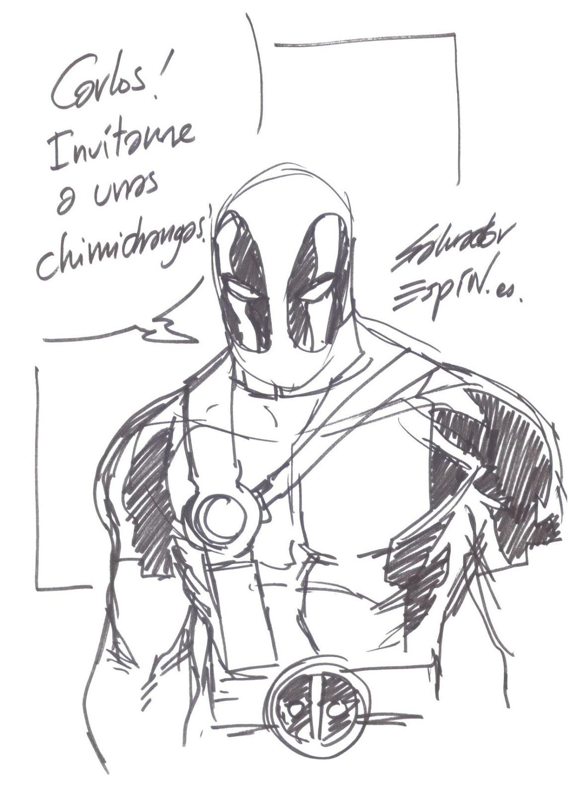 Bonito Deadpool Para Colorear Para Niños Festooning - Dibujos Para ...