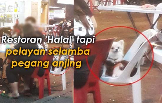 Pelayan pegang anjing sebelum bawa makanan pada pelanggan Muslim