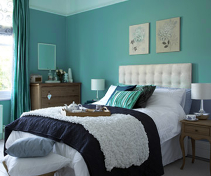Turquoise bedroom ideas interior design sketches for Black white turquoise bedroom ideas