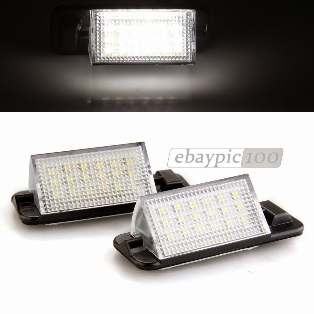 2x White 18 LED 3528 SMD Number License Plate Light Lamp Rear Bulb for BMW E36