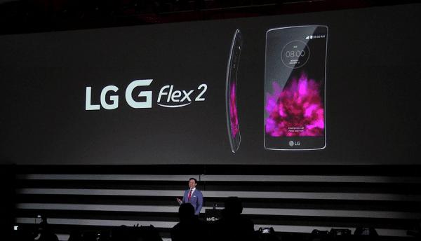 إل جي تكشف عن هاتفها بالشاشة المنحنية G Flex 2