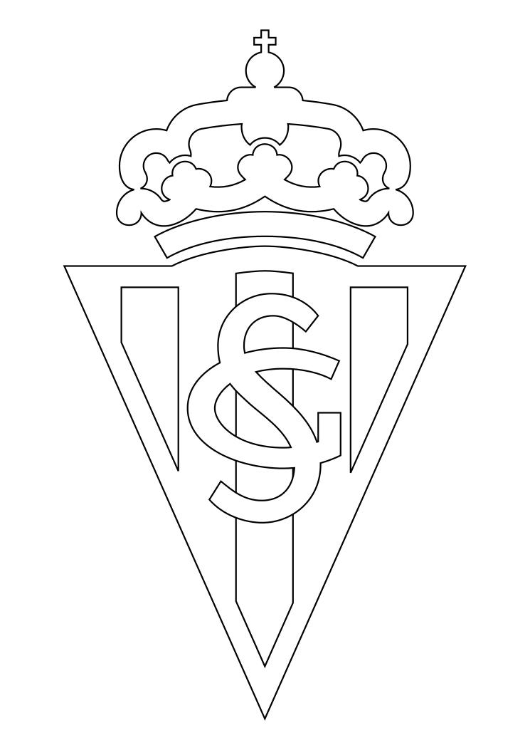 dibujos para colorear  pintar   imprimir       escudos futbol segunda division  espa u00d1a