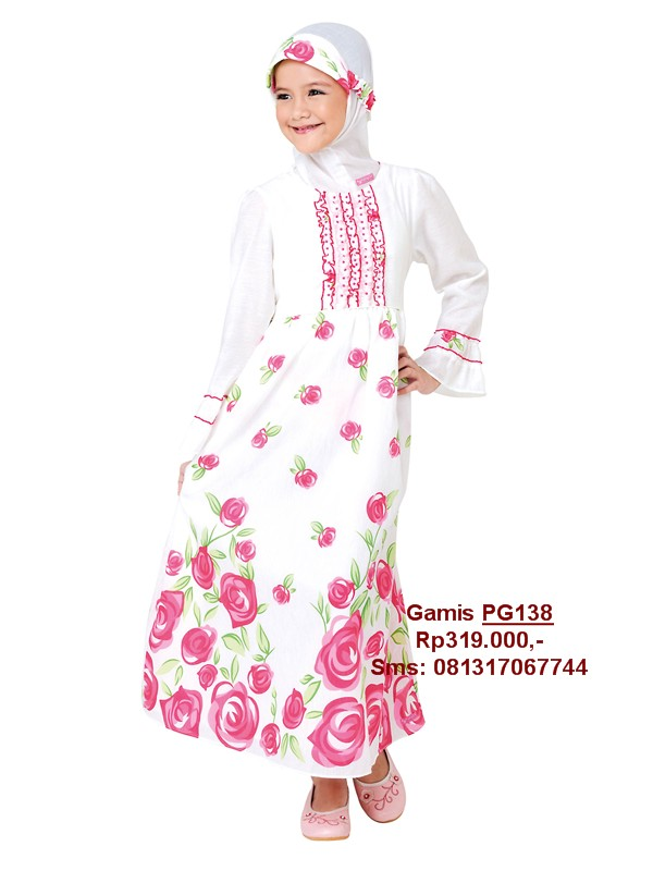 Gamis Pretty Girl Baju Lebaran Anak Cantik Anda Baju