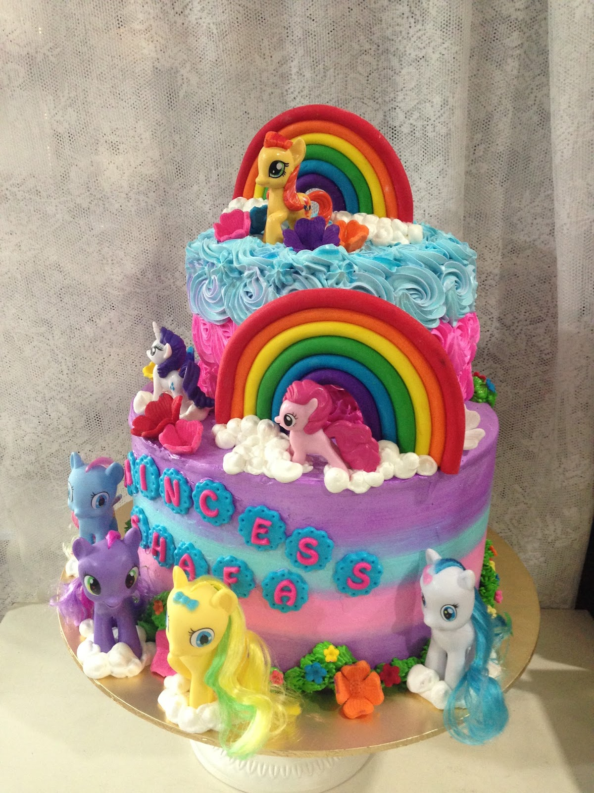 ninie cakes house Birthday Cakes My Little Pony Theme