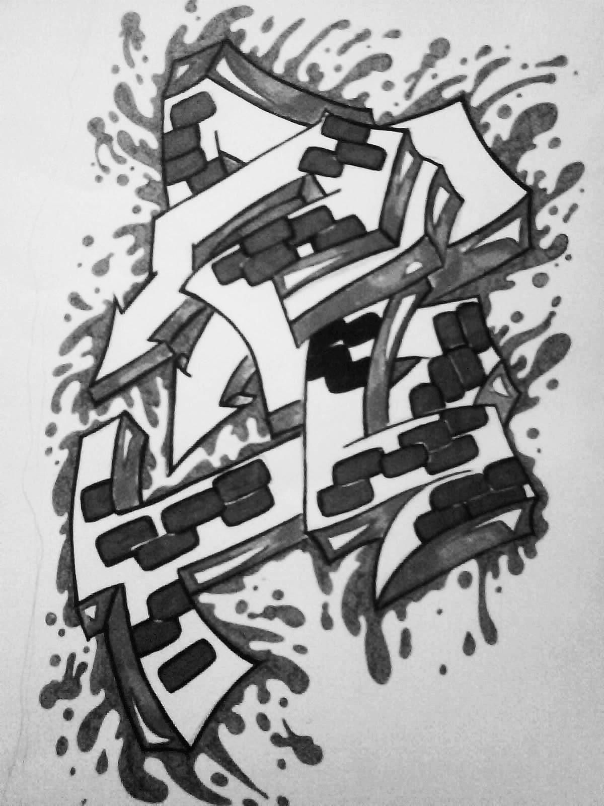 Graffiti Creator Styles: Graffiti wallpaper black and white