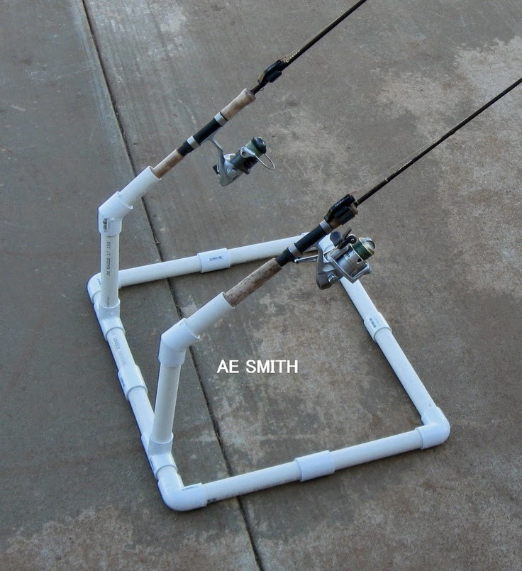 Craft ideas homemade fishing rod holder for How to make fishing rod