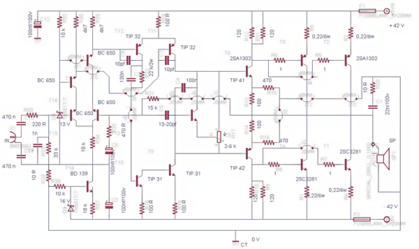 Meservice Schematic Diagram Power Amplifier 450 Watt