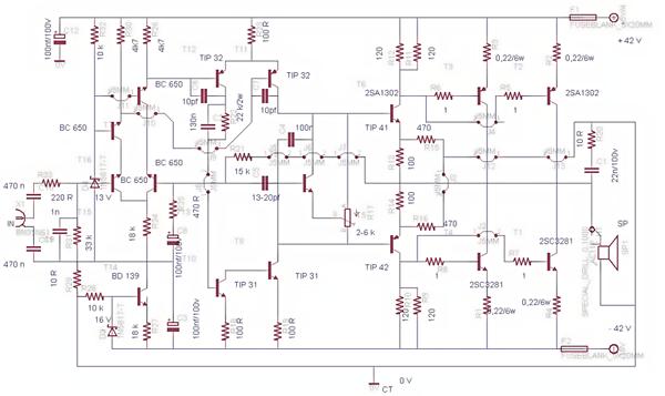 Meservice  Schematic Diagram Power Amplifier 450 Watt