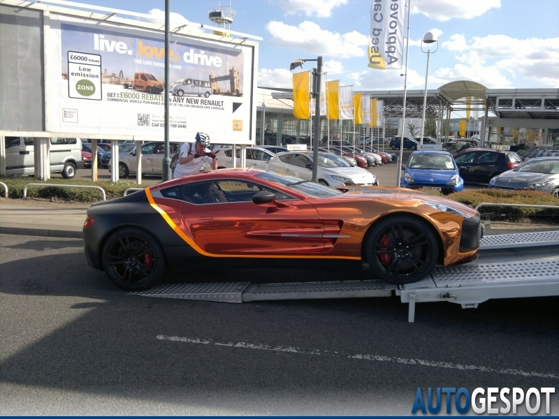 In London We Have Previously Seen A White Aston Martin One 77 But This Is The Unique Hand There The English Hypercar Costs 1 43 Million And A Modified V12