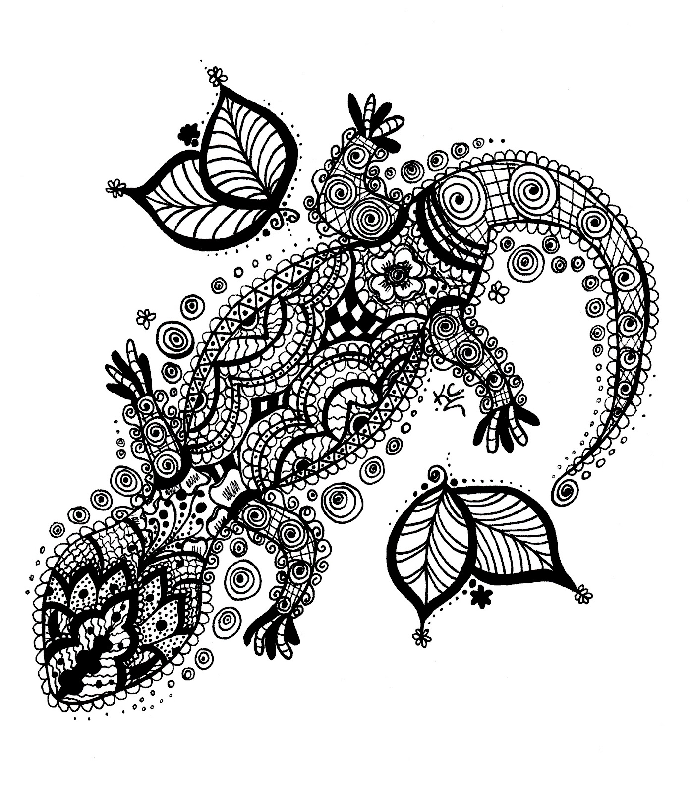 Aztec Chameleon Tattoo: Geckos, Bearded Dragon And Quilting