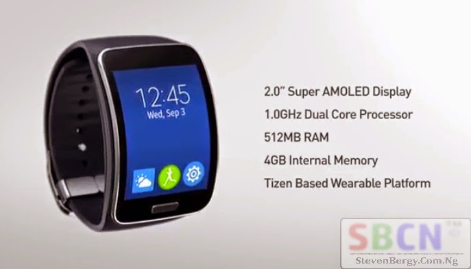 Samsung Gear S Specs