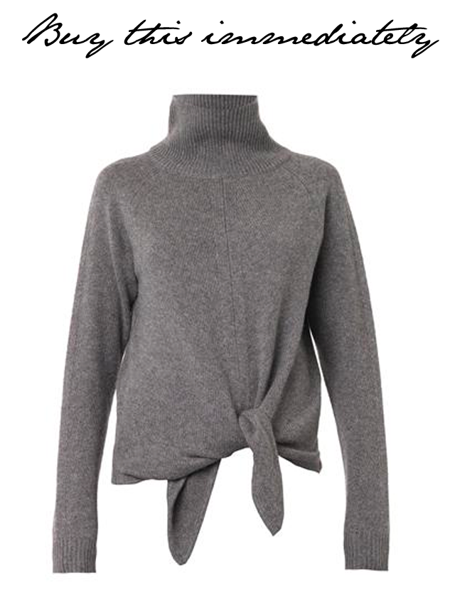 Vanessa Bruno tie turtleneck sweater