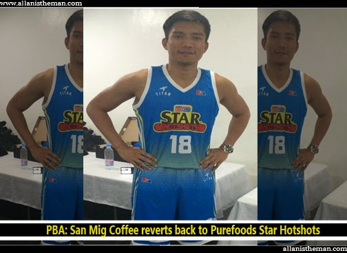 PBA: San Mig Coffee reverts back to Purefoods (James Yap PHOTOS)