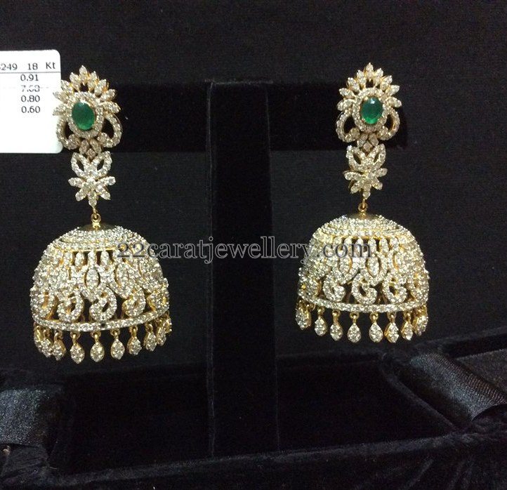 50 Grams Grand Diamond jhumkas