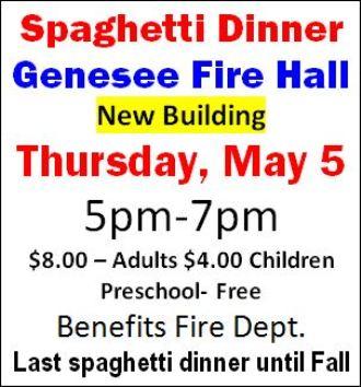 5-5 Spaghetti Dinner, Genesee