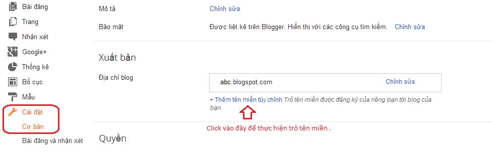 huong dan cach gan ten mien vao blogspot