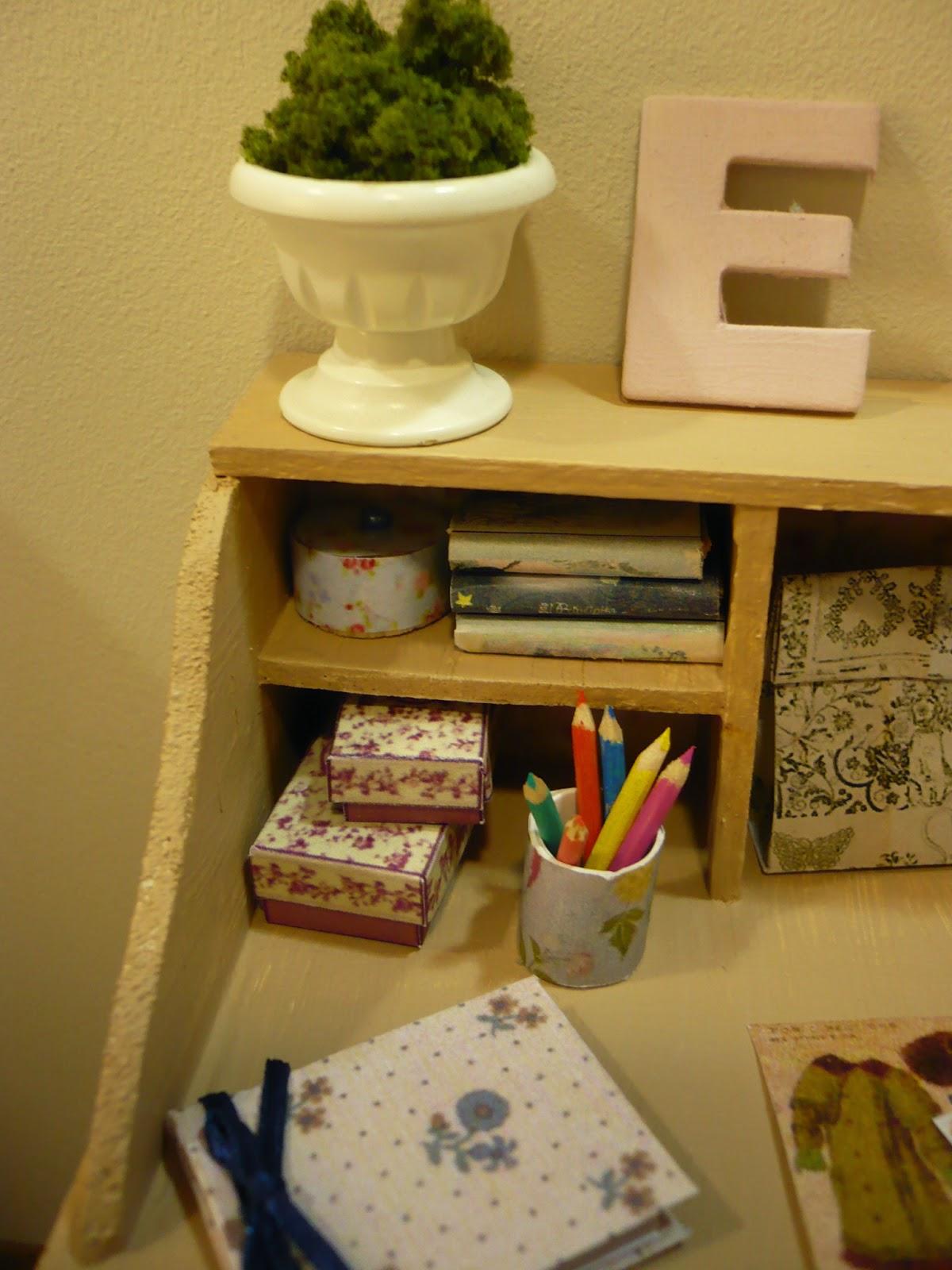Muebles y complementos en escala 1 6 vintage diorama for Muebles y complementos