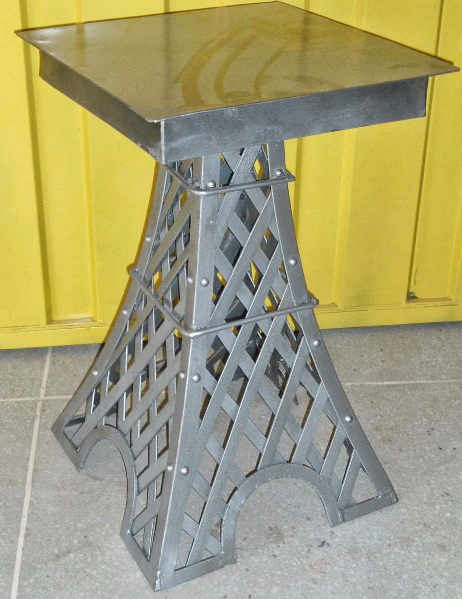 Genial Eiffel Tower Style Industrial Side Table