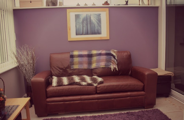 sofa in conservatory