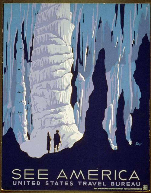 travel, travel posters, vintage, vintage posters, united states, art, graphic design, america, retro prints, wpa, See America Vintage Travel Poster - United State Travel Bureau