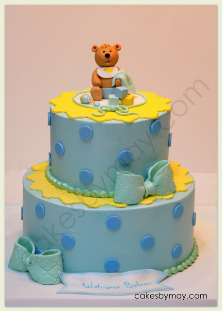 Cake Flavor Ideas For Baby Shower : Cakes by Maylene: Teddy Bear Baby Shower Cake