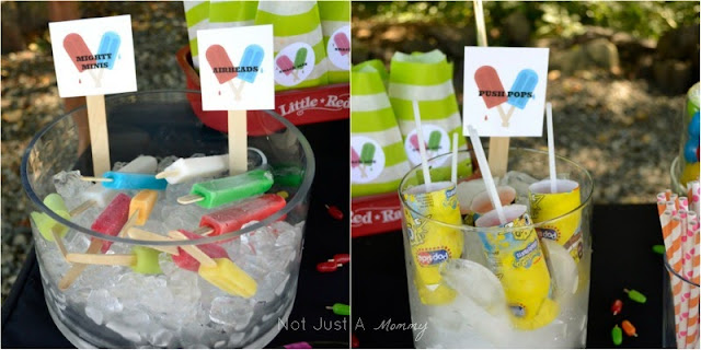 Pop Up Popsicle Party popsicles