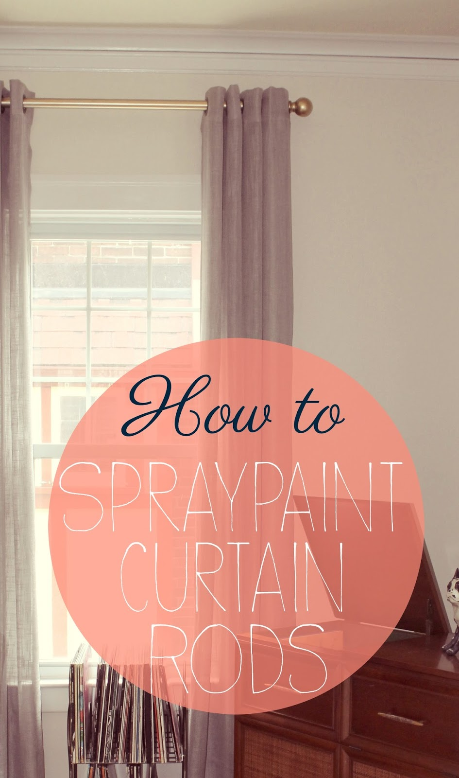 bloom how to spray painting curtain rods