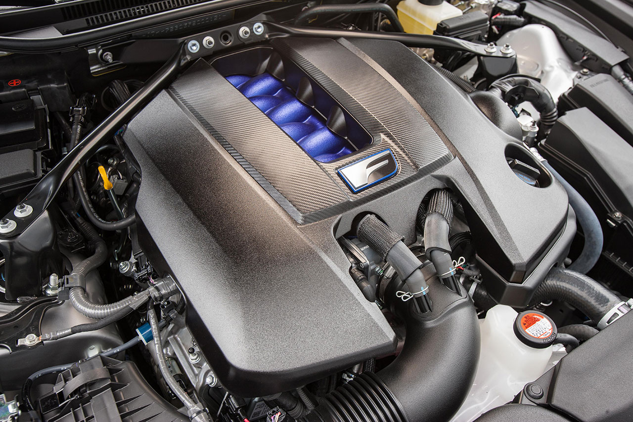 Lexus RC F V8 engine