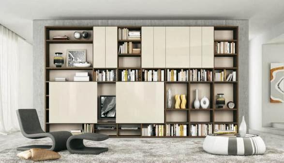 Decoration ideas photos interior design modern home - Etagere murale pour bibliotheque ...