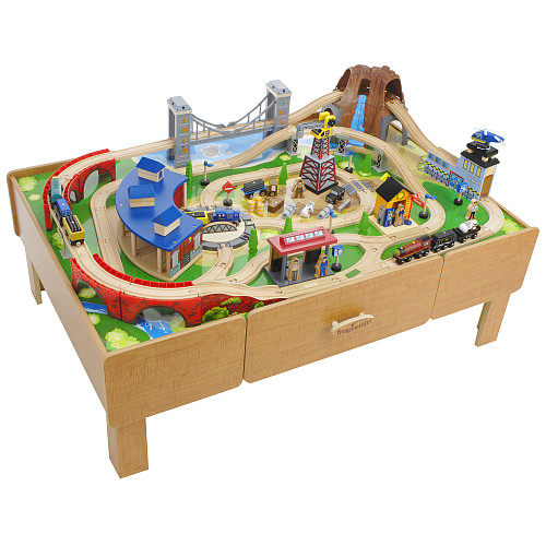 KidKraft Train Table - Long-Lasting Popular Best Toy For Boys And  sc 1 st  Less Model - Blogger & Less Model: Access Brio wooden train set table