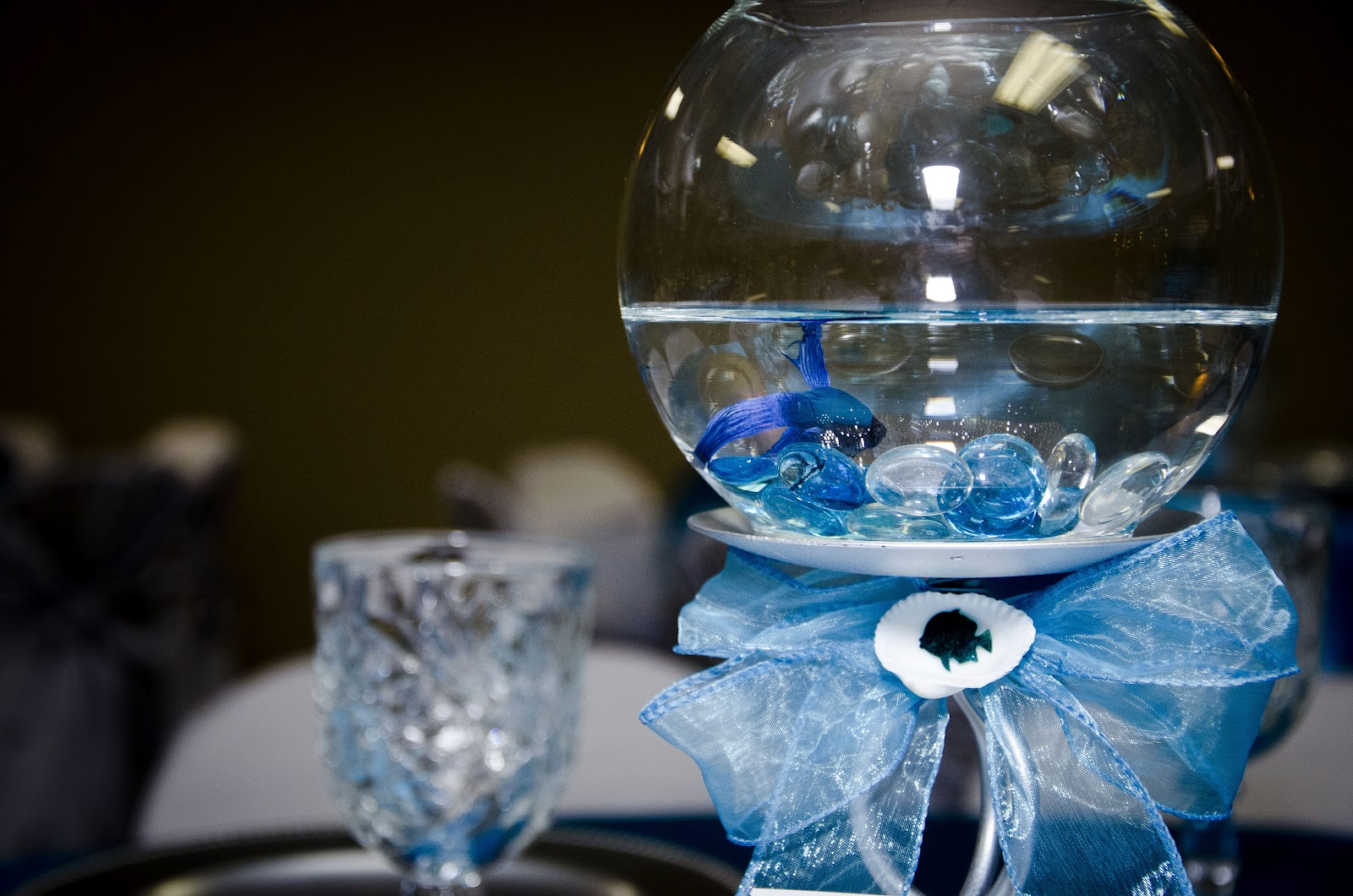 Blue Quinceanera Table Centerpieces Fishy themed quinceaneraQuinceanera Centerpieces Blue
