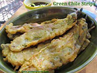 Hatch Green Chile Strips with Honey Teriyaki Dipping Sauce  from My Turn for Us