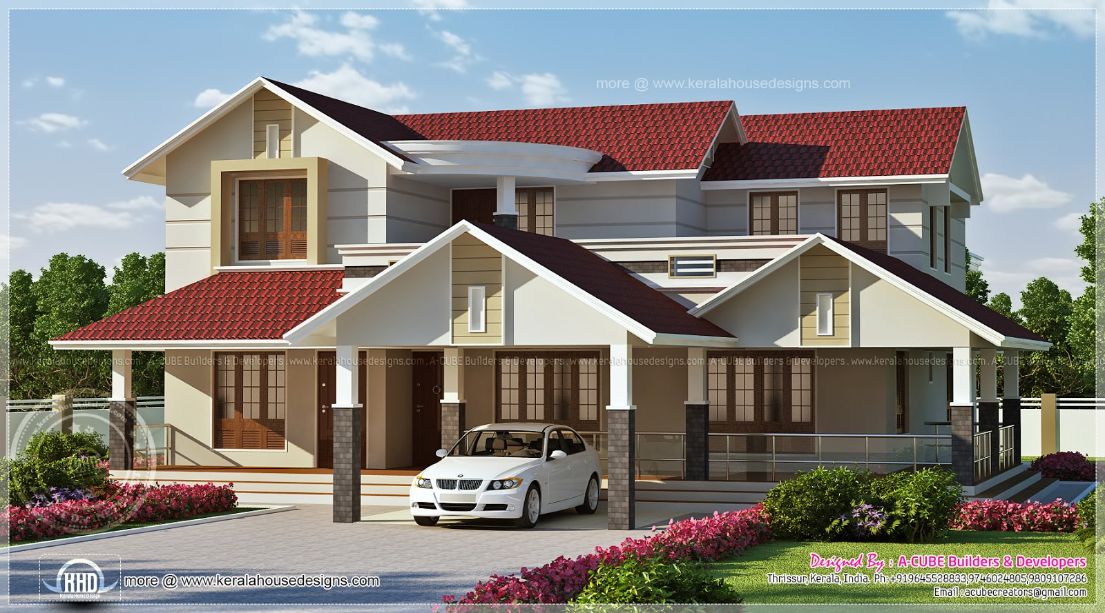 304 Square Meter Luxury House Elevation Home Kerala Plans