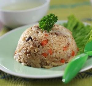 Resep Anak: Nasi Tim Daging