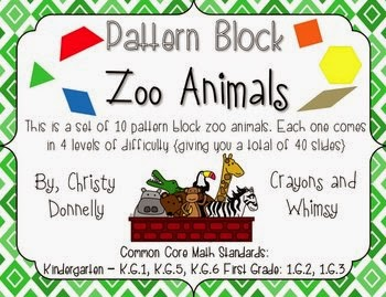 http://www.teacherspayteachers.com/Product/Pattern-Block-Math-Zoo-Animal-Edition-762285