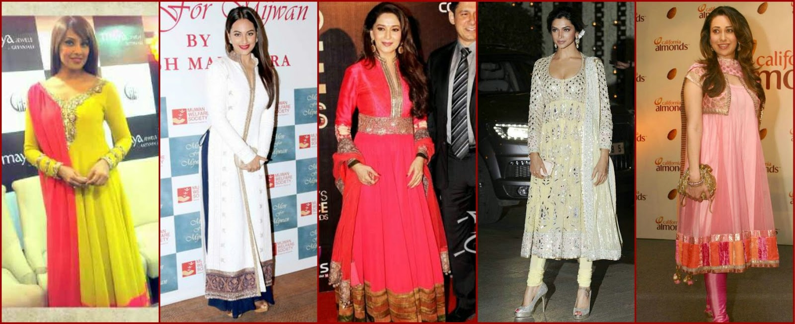 Bollywood actresses in manish malhotra, bipasah in manish malhotra, sonakshi in manish malhotra salwar suit, madhuri in manish malhotra, deepika in manish malhotra, karishma in manish malhotra salwar kameez