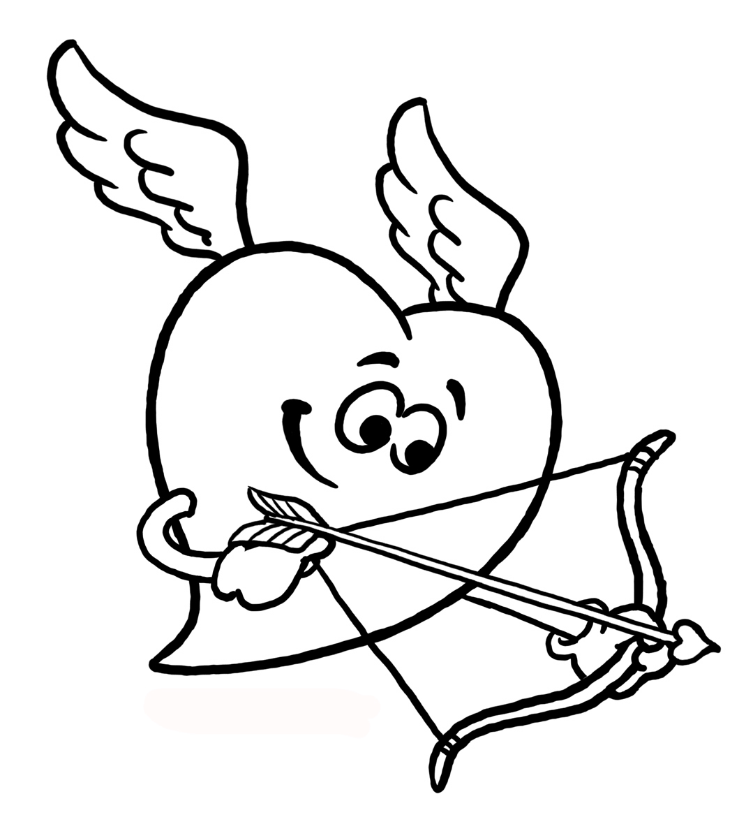coloring pages cupid - photo#27