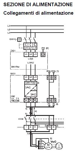 Schema Collegamento Inverter Motore Trifase : Macchine frigorifere inverter sporlan illustrazione