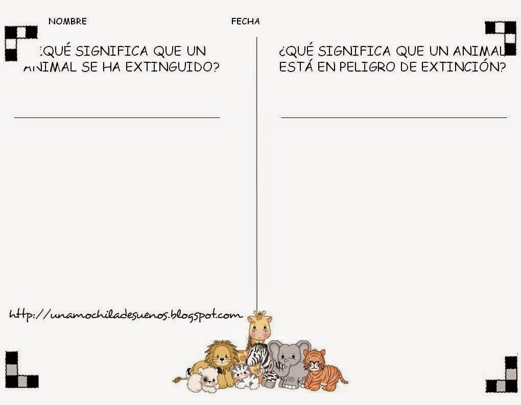 UNA MOCHILA DE SUEÑOS: ANIMALES EN PELIGRO DE EXTINCIÓN