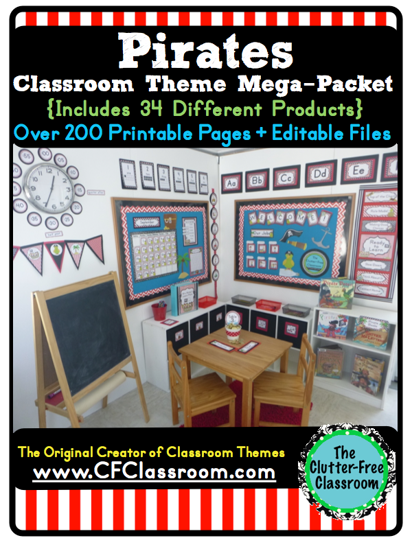 PIRATE Themed Classroom Photos, Printables & Ideas for Decorating