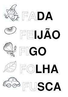 Silabário: fa, fe fi, fo, fu