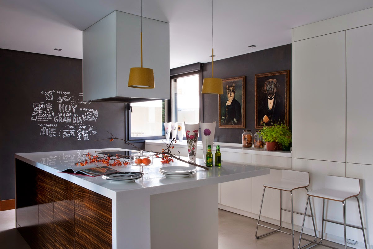 Detalhes do c u moderna casa em madrid for Casa moderna 2014 espositori