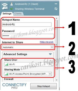 Sharing Wifi PC Ke Android