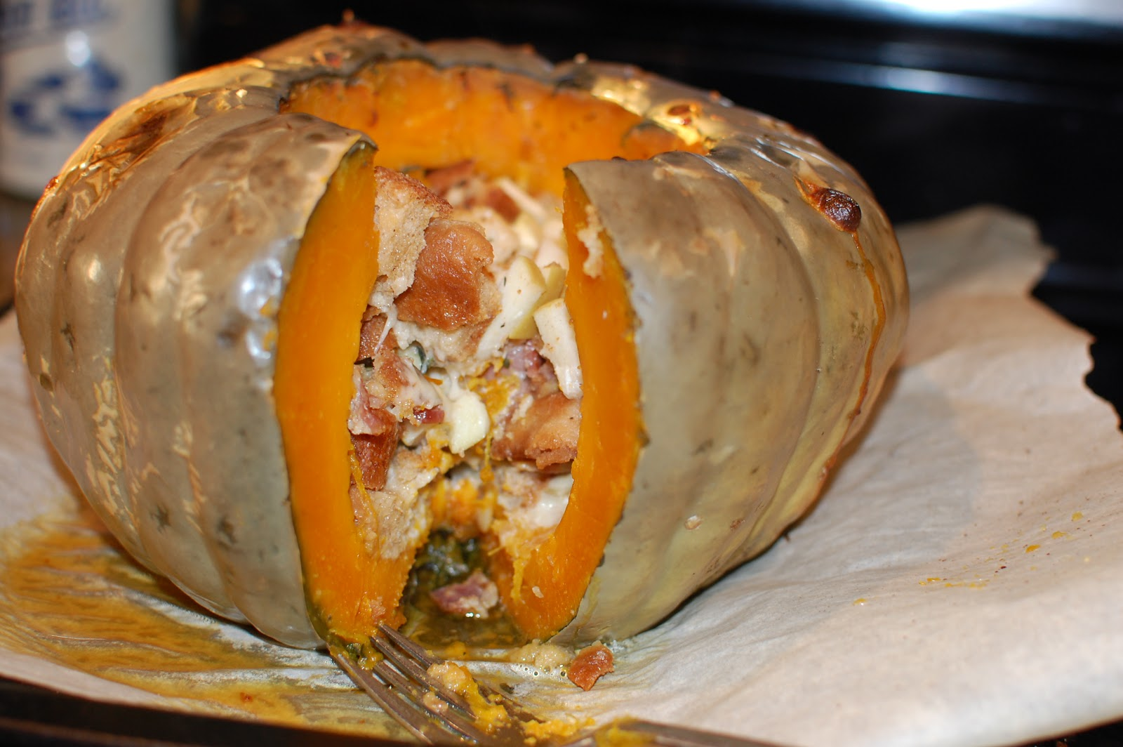 Baked, Stuffed Pumpkin (Pumpkin Stuffed With Everything Good)