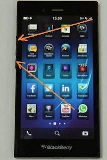 Cara Screenshot HP BlackBerry Z3 Dengan Mudah